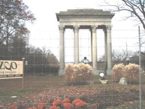 Franklin Park entrance that once stood