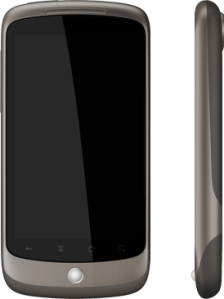 images of the Google NEXUS ONE cell phone