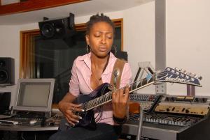 Lotus Records, Inc artist Carmen Liana on Guitar