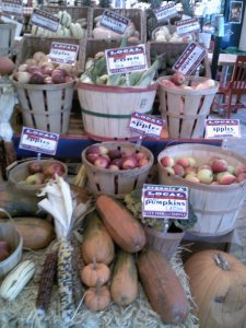 the organic produce at City Feed Jamaica Plain