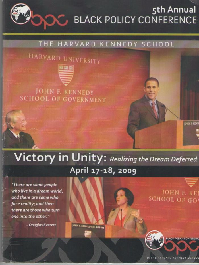 a cover photo from the Black Policy Conference 2009